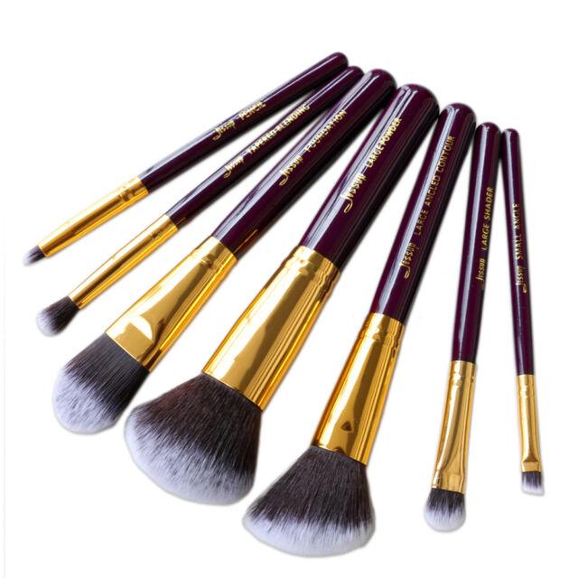 7Pcs Jessup Travel brushes set Powder Foundation blending eyeshadow brush kit