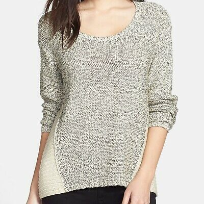 RD Style Womens Star Gray Printed Scoop Neck Pullover Sweater Top S BHFO 5592