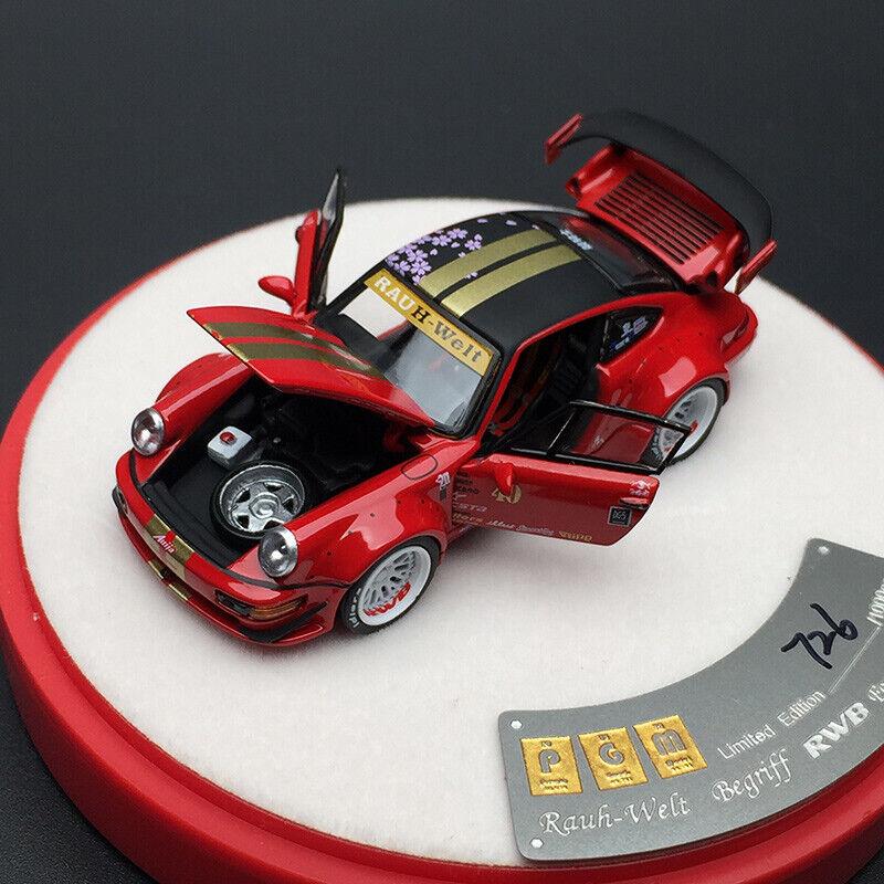 Pgm 1 64 Scale Rwb Porsche 964 Diecast Car Model Red Limited Luxury Version Ebay