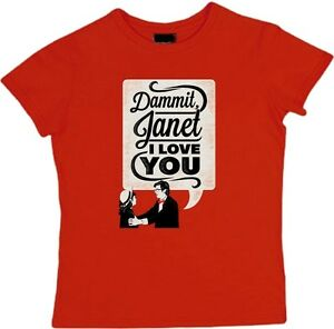 DAMMIT-JANET-I-LOVE-YOU-T-Shirt-rocky-horror-picture-show-poster-Ladies-girls