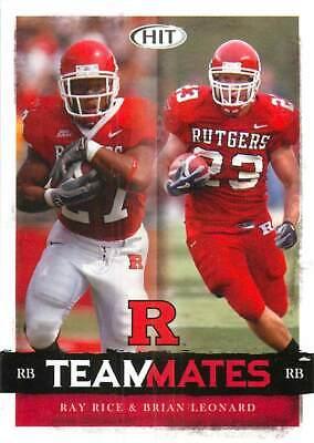 2008 Sage Hit Teammates #60 Ray Rice Brian Leonard Rutgers Ravens Football Cards   eBay
