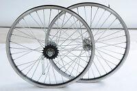 Pair Folding Bike Shopper Kids Bmx Coaster Brake Wheels 20 X 1.75 Pedal Back
