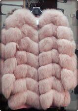 Luxus Echt FUCHS PELZ Mantel Echt FELL Moderne Jacke