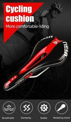 Bicycle Saddle Road Carbon Fiber Seat Cushion Pad Cover Anti-slip Waterproof