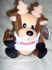 Coca-Cola Reindeer in Shirt Bean Bag Plush style 0133