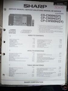 service manual sharp cd c900h cp c900h audio equipment ebay rh ebay com Sharp Compet QS-2760H Manual Sharp Atomic Clock SPC 891