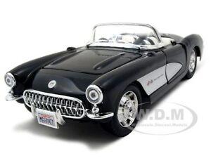 1957-CHEVROLET-CORVETTE-BLACK-1-24-DIECAST-MODEL-CAR-BY-MAISTO-31275