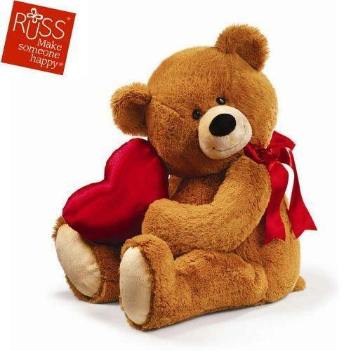 RUSS BERRIE TEDDY HONEYLOVE 59CM NEU