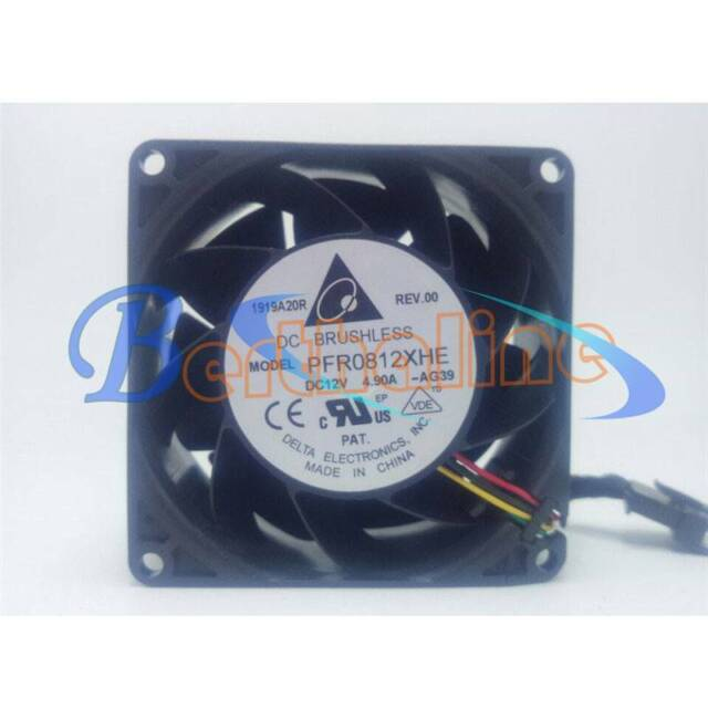PFR0812XHE Delta Fan 12v 4.90a Dual Assembly for sale online