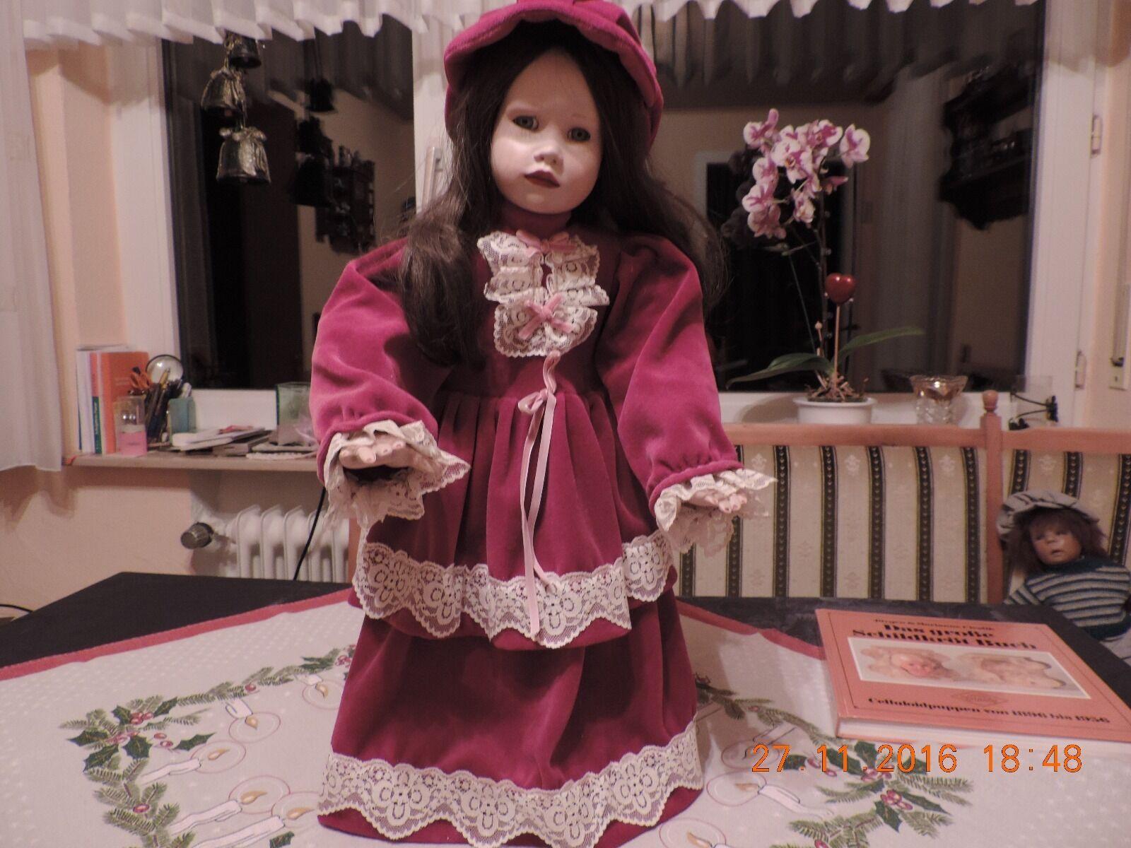 Puppe aus Porzellan sucht sucht sucht  neue Familie 57 cm 69d8db
