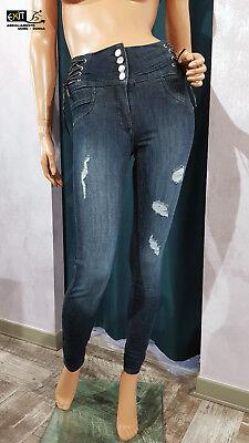 811SJ26012 collezione p.e 2018 Denny Rose jeans jeggings vita alta art