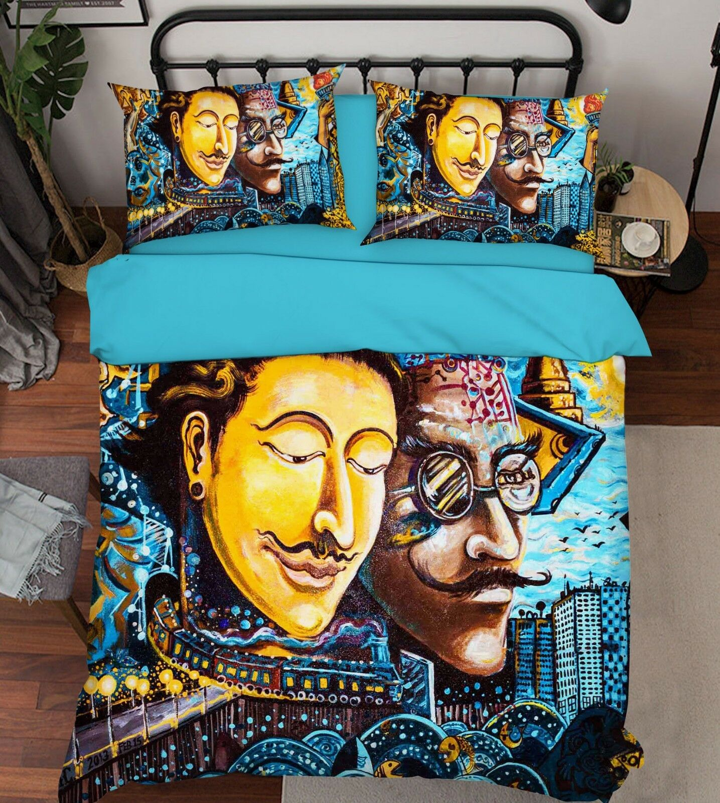 3D Oil Painting Boy7 Bed Pillowcases Quilt Duvet Cover Set Single Queen AU Carly