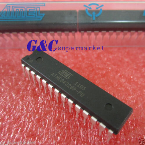 10PCS  ATMEGA328P ATMEGA328P-PU DIP-28 ATMEL  NEW Free tracking number