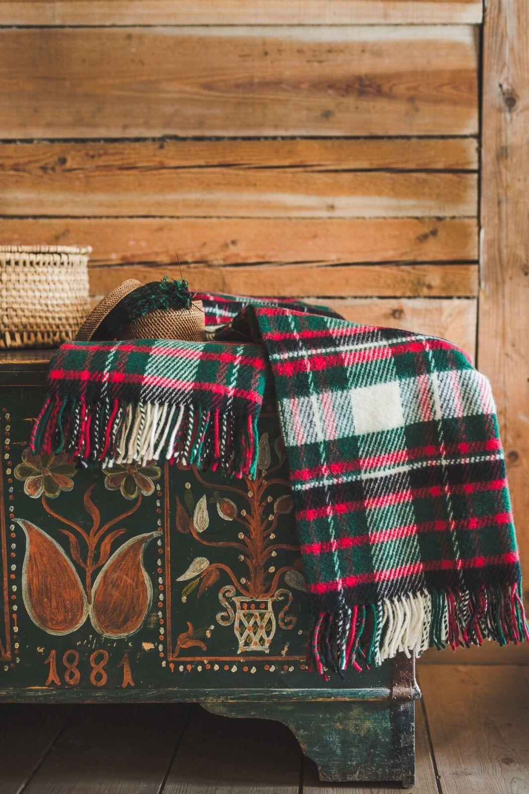 Blanket Throw Bed Sofa Fleece Cozy Plaid Soft Warm 100% Wool 130x210cm Scottish
