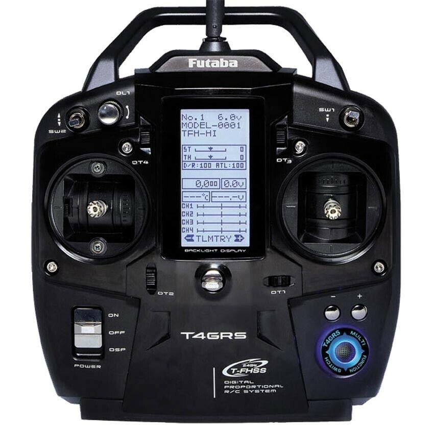Futaba-RADIOCOMANDO Tx 4GRS Rx R304SB telemetría 2.4GHz T-FHSS