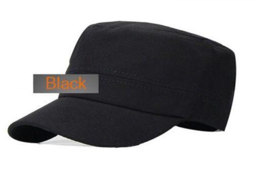 Men Military Fitted Cadet Cap Classic Baseball Caps Peak Army Hat Skull Design
