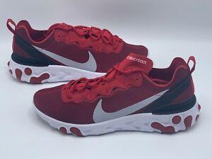 Nike-React-Element-55-Red-Black-New-Men-Running-Shoes-Size-9-BQ6166-601