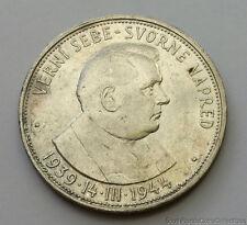 1944 Slovakia 50 KS Korun .700 Silver Coin