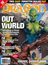 "TSR Dragon Magaz #287 ""Forgotten Realms Map #1, Out of this World, Fiend Mag VG"