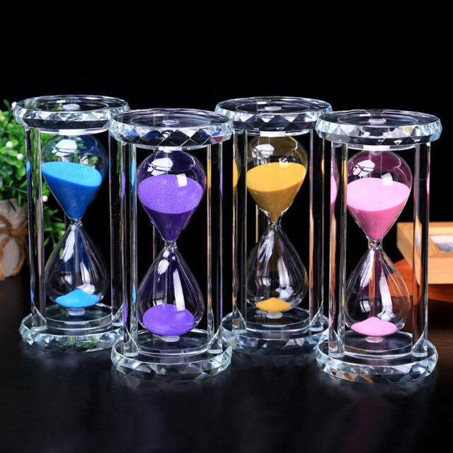 Sandglass Home Decor 15 Minutes Glass Sand Hourglass Birthday Gift Timer Clock