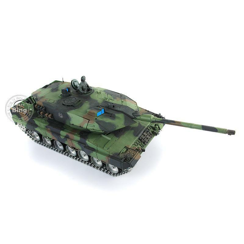 1 16 2.4G Henglong Leopard2A6 Turret 360 RC Tank Model 3889 Metal Road Wheels