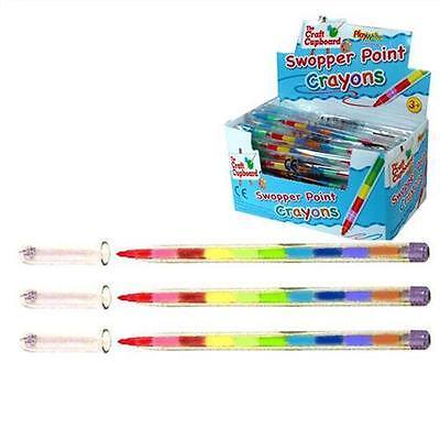 Children Kids Swap Swop Point Crayons Stacker Pencils Party Loot Bag Fillers!