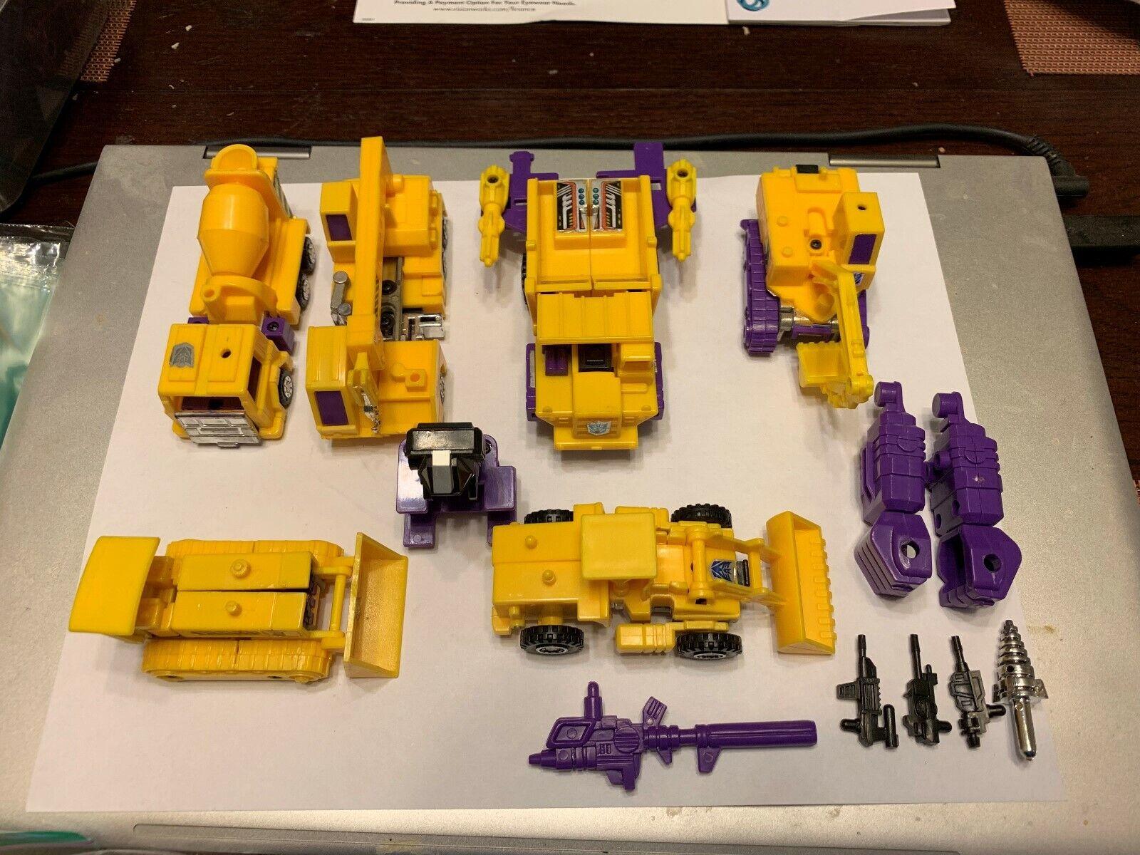 TRANSFORMERS G2 Gelb CONSTRUCTICON DEVASTATOR SET HASBRO LQQK