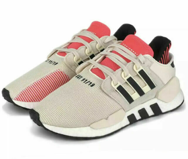 Size 7.5 - adidas EQT Support 91/18 Off White Shock Red