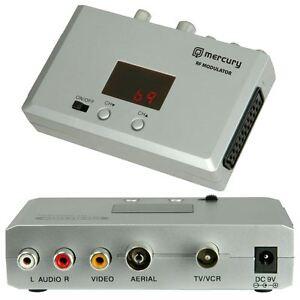 Mercury-Universal-RF-Modulator-Converter-Scart-Coaxial-CCTV-TV-Aerial-Video