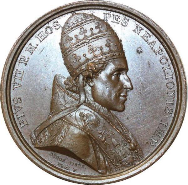 O5564 Rare Medal Pape Pie Vii Monnaie Médailles 1805 Denon Droz Desnoyers Sup+