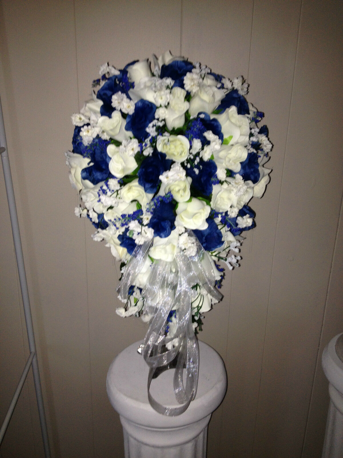 Cascading Bridal Bouquet & 5 Bridesmaids Bouquets In Your Couleurs Free Shipping