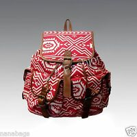 Ladies New Canvas Owl Flower  Retro Vintage Backpack Rucksack Shoulder School