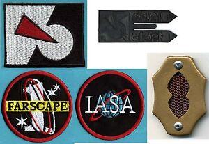Farscape-Patch-amp-Badge-Collection-Farscape-1-IASA-Peacekeeper-Logo-Comm-Set