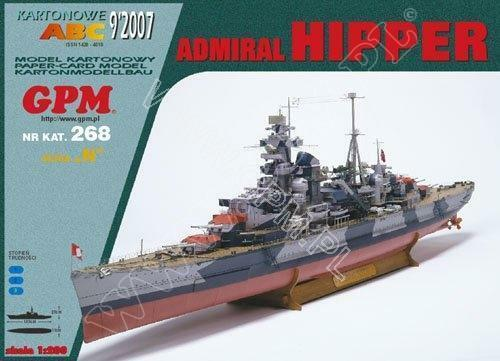 German cruiser Admiral Hipper 1 200 paper model kit 103cm long