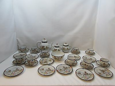 Antique Oriental Chinese Japanese Eggshell China 10 Place Tea Service Stunning!