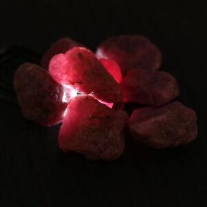 Natural Estrella Rubí Rough Lote 100Ct. Raw Suelto Piedras Preciosas FK-266