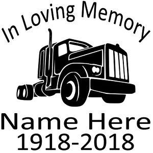 In-Loving-Memory-Vinyl-Decal-Sticker-Personalized-Custom-Car-Window-Big-Rig