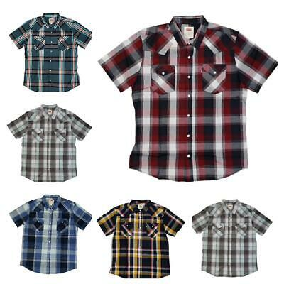 Short Sleeve Snap Slim Casual Button Up
