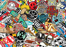 x3 Surf sticker bombing sheets A4 sticker bomb decal VW Dub Euro style skate
