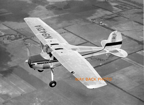 """RARE PROMO IMAGE 5/"""" by 7/"""" REPRINT PHOTO OF ALL METAL CESSNA 140A Airplane"""