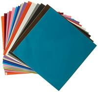 """12"""" x - 54 Sheets of Assorted Glossy Colors Permanent Adhesive-Backed Vin Craft Supplies"""
