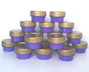 20-Tiny-1-tsp-size-PURPLE-JAR-GOLD-CAP-CONTAINER-3301-diy-lip-balm-pot-DecoJars