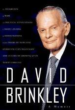 David Brinkley A Memoir Television Interviewer Hardback Book Autobiography