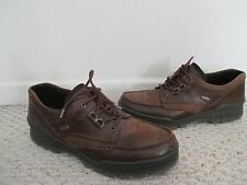 ECCO Track II Moc Low Gor-Tex waterproof brown leather shoes Size 45 / 11