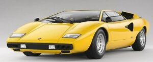 Details about 118 Kyosho Lamborghini Countach LP400 Yellow with Silver  Wheels K09531Y0
