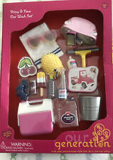 "NIB Our Generation ROW YOUR BOAT SET 18/"" DOLLS REAL LIGHTS *RETIRED /& SOLD OUT"