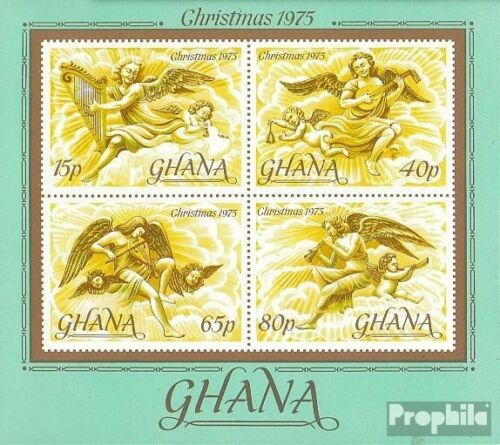 Ghana block63 complete.issue. unmounted mint never hinged 1975 christmas