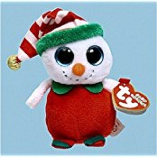 MINT with MINT TAGS TY CHEERY theh SNOWMAN JINGLE BEANIE BABY