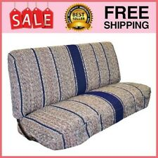 Universal Baja Saddle Blanket Bench Full Size Seat Cover Blue