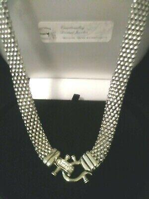 BONUS SOLID 14K Y GOLD 6MM LCS DIAMOND CHAIN LINK PENDANT NECKLACE 16-18